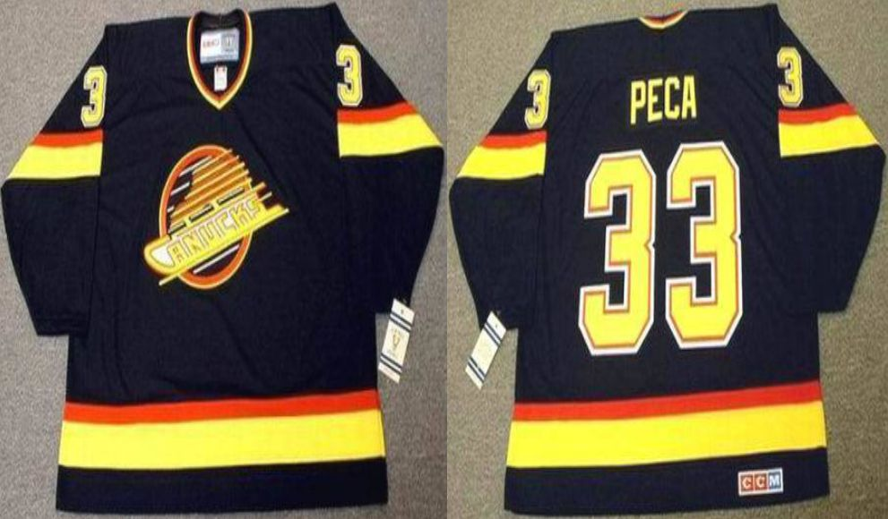2019 Men Vancouver Canucks 33 Peca Black CCM NHL jerseys