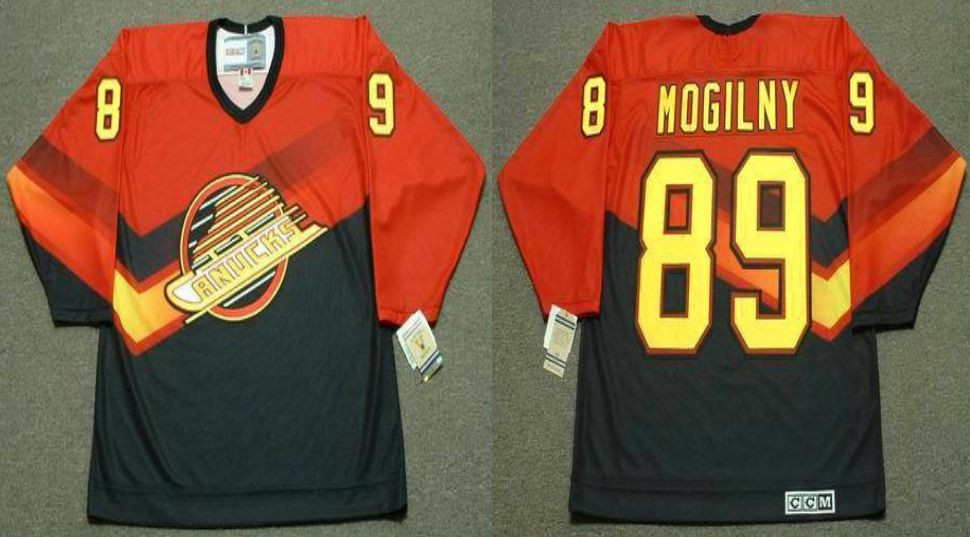2019 Men Vancouver Canucks 89 Mogilny Orange CCM NHL jerseys