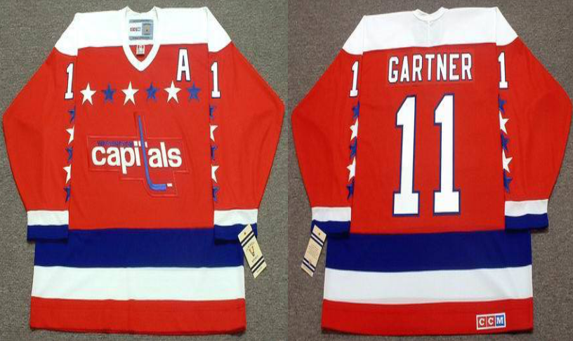 2019 Men Washington Capitals 11 Gartner red CCM NHL jerseys