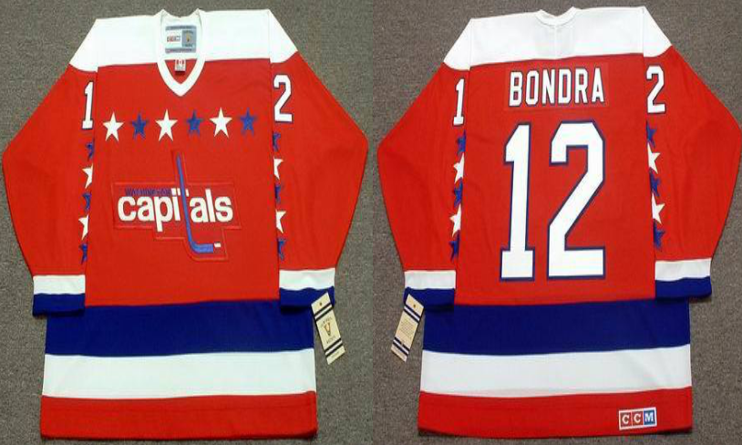 2019 Men Washington Capitals 12 Bondra red CCM NHL jerseys