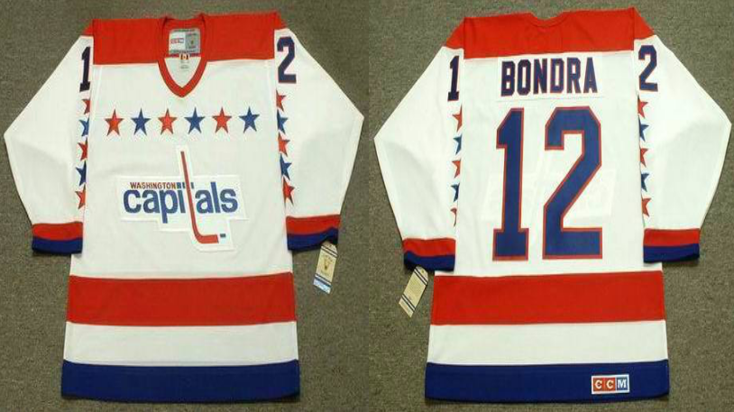 2019 Men Washington Capitals 12 Bondra white CCM NHL jerseys