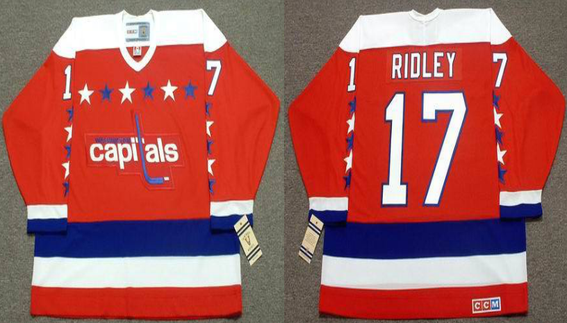 2019 Men Washington Capitals 17 Ridley red CCM NHL jerseys
