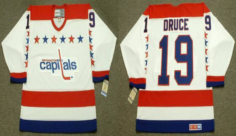 2019 Men Washington Capitals 19 Druce white CCM NHL jerseys
