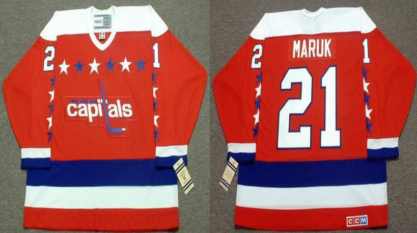 2019 Men Washington Capitals 21 Maruk red CCM NHL jerseys