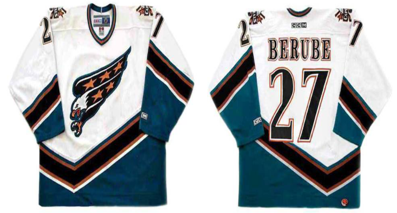 2019 Men Washington Capitals 27 Berube white CCM NHL jerseys