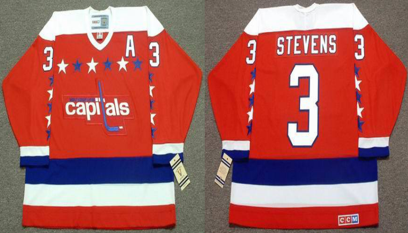 2019 Men Washington Capitals 3 Stevens red CCM NHL jerseys