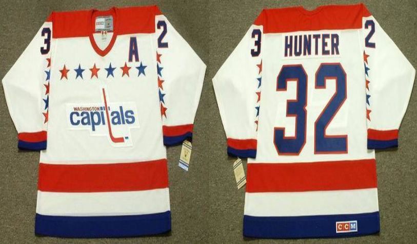 2019 Men Washington Capitals 32 Hunter white CCM NHL jerseys