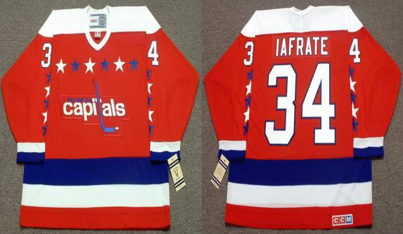 2019 Men Washington Capitals 34 Iafrate red CCM NHL jerseys