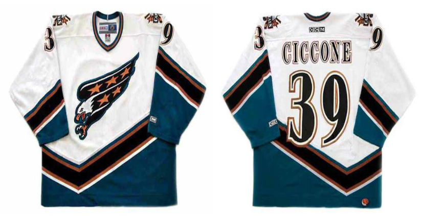 2019 Men Washington Capitals 39 Ciccone white CCM NHL jerseys