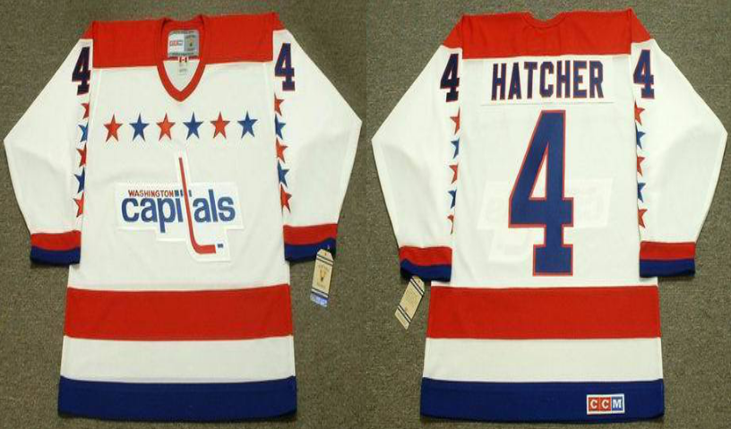 2019 Men Washington Capitals 4 Hatcher white CCM NHL jerseys