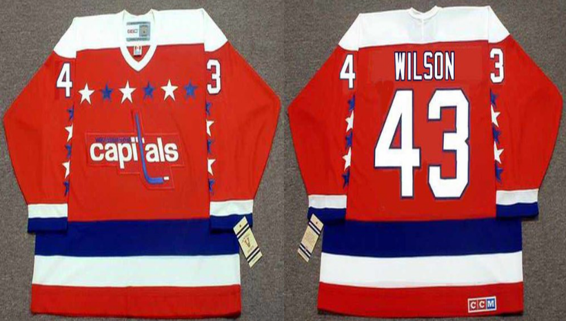 2019 Men Washington Capitals 43 Wilson red CCM NHL jerseys