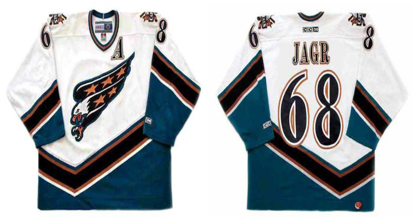 2019 Men Washington Capitals 68 Jagr white CCM NHL jerseys