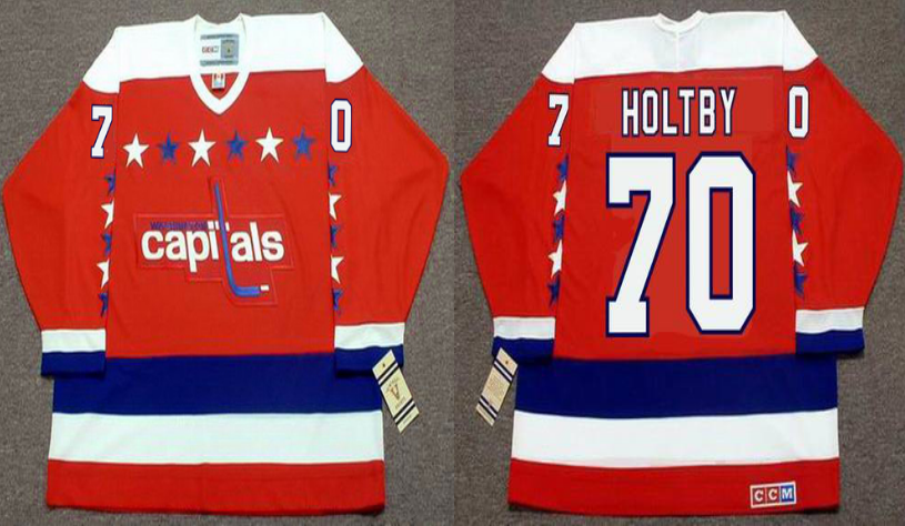 2019 Men Washington Capitals 70 Holtby red CCM NHL jerseys