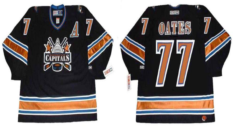 2019 Men Washington Capitals 77 Oates black CCM NHL jerseys