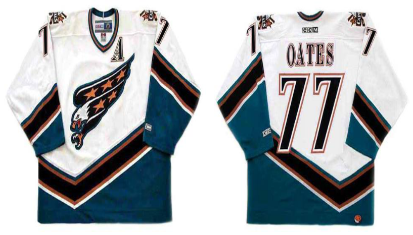 2019 Men Washington Capitals 77 Oates white CCM NHL jerseys
