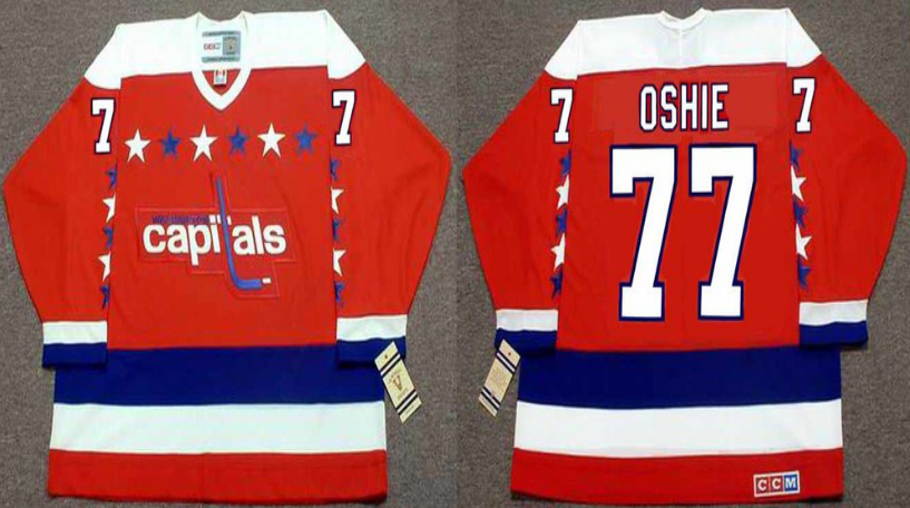 2019 Men Washington Capitals 77 Oshie red CCM NHL jerseys