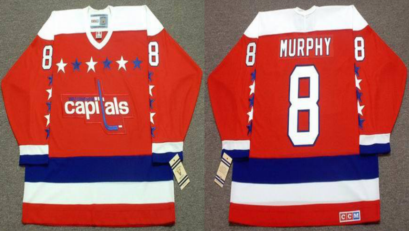 2019 Men Washington Capitals 8 Murphy red CCM NHL jerseys