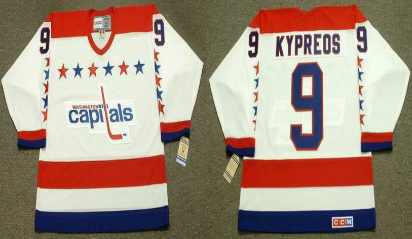 2019 Men Washington Capitals 9 Kypreos white CCM NHL jerseys
