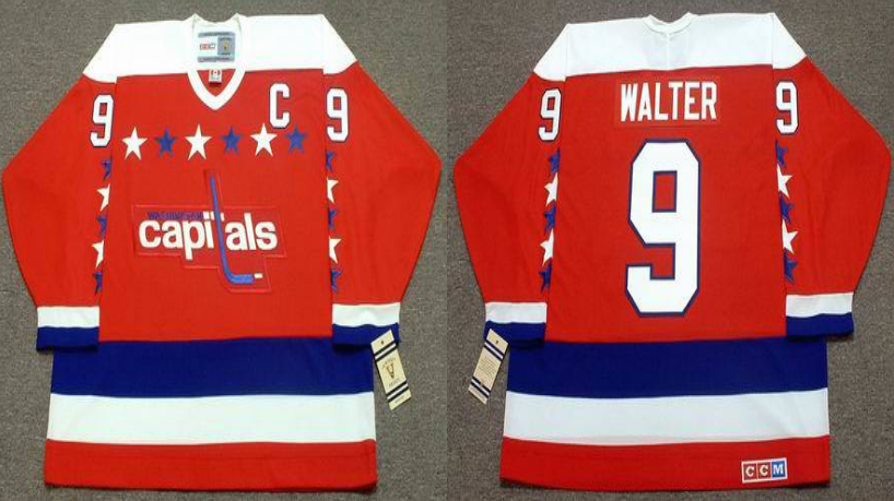 2019 Men Washington Capitals 9 Walter red CCM NHL jerseys