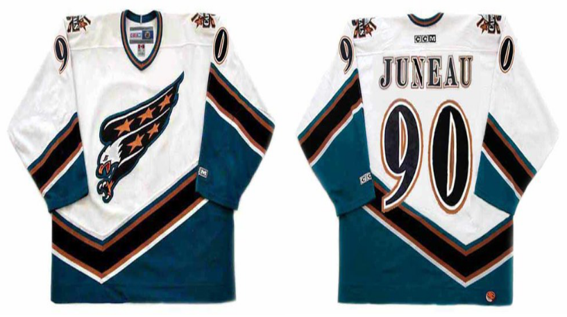 2019 Men Washington Capitals 90 Juneau white CCM NHL jerseys