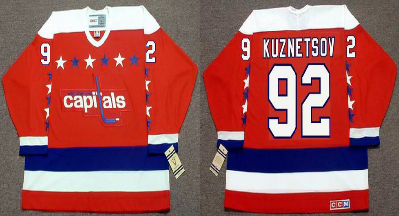 2019 Men Washington Capitals 92 Kuznetsov red CCM NHL jerseys
