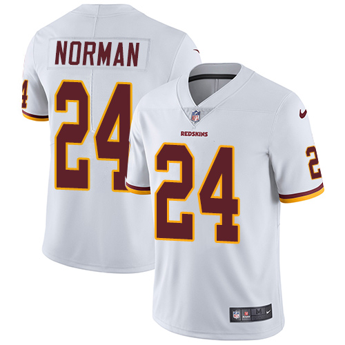 2019 Men Washington Redskins 24 Norman white Nike Vapor Untouchable Limited NFL Jersey