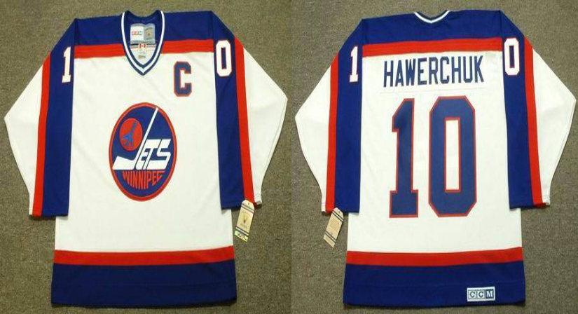 2019 Men Winnipeg Jets 10 Hawerchuk white CCM NHL jersey