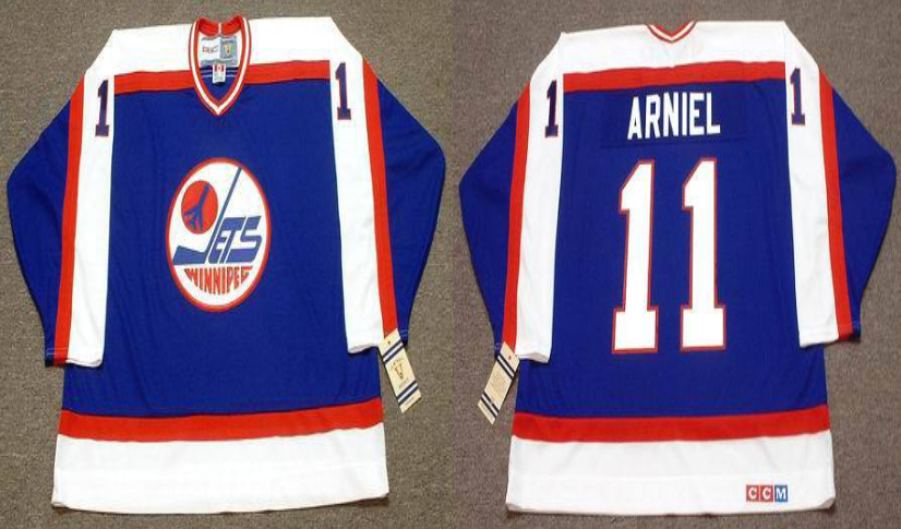 2019 Men Winnipeg Jets 11 Arniel blue CCM NHL jersey
