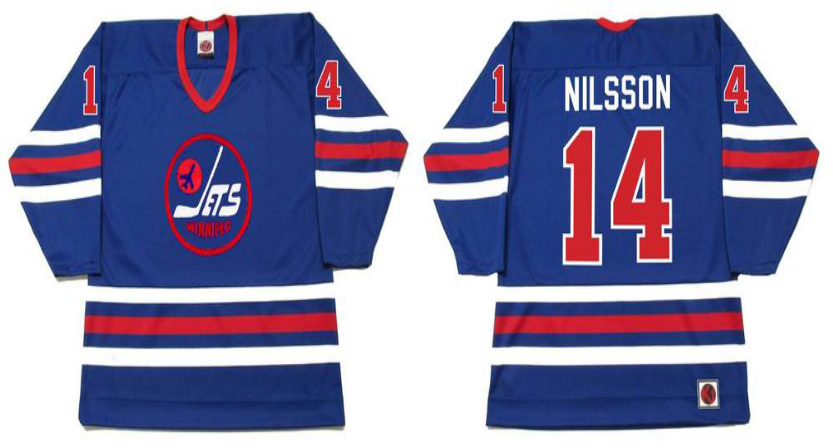 2019 Men Winnipeg Jets 14 Nilsson blue CCM NHL jersey