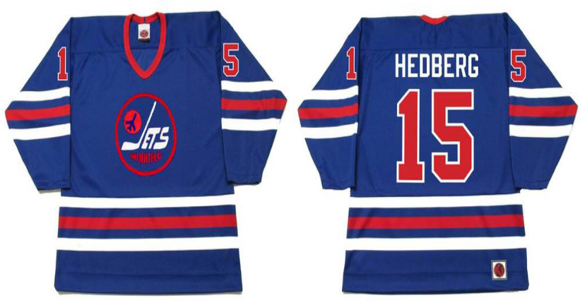 2019 Men Winnipeg Jets 15 Hedberg blue CCM NHL jersey