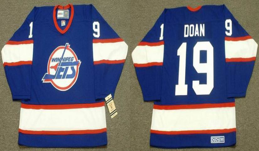 2019 Men Winnipeg Jets 19 Doan blue CCM NHL jersey