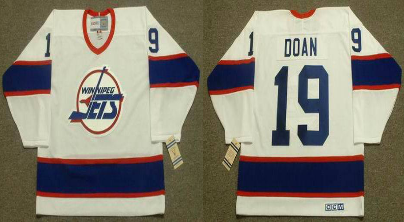 2019 Men Winnipeg Jets 19 Doan white CCM NHL jersey
