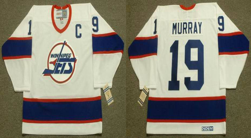 2019 Men Winnipeg Jets 19 Murray white CCM NHL jersey