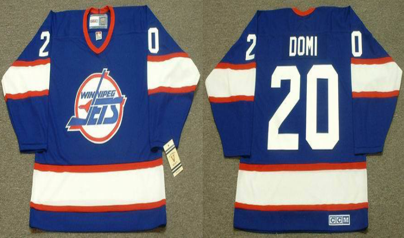 2019 Men Winnipeg Jets 20 Domi blue CCM NHL jersey
