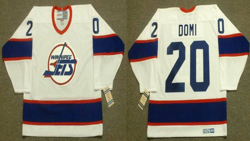 2019 Men Winnipeg Jets 20 Domi white CCM NHL jersey