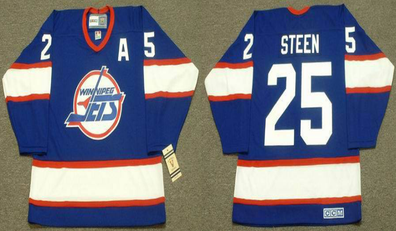 2019 Men Winnipeg Jets 25 Steen blue CCM NHL jersey