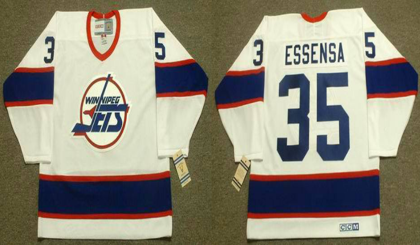 2019 Men Winnipeg Jets 35 Essensa white CCM NHL jersey