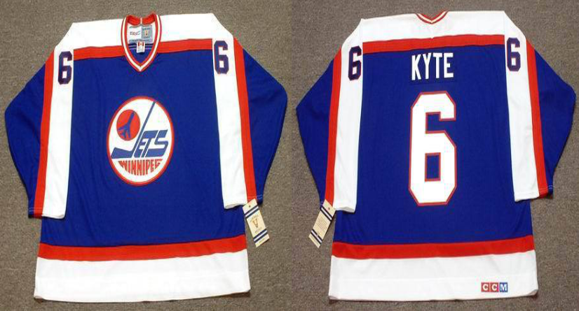 2019 Men Winnipeg Jets 6 Kyte blue CCM NHL jersey