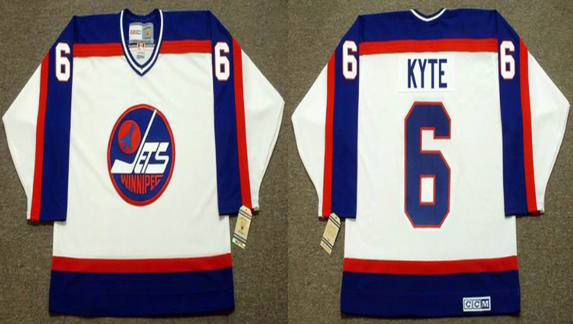 2019 Men Winnipeg Jets 6 Kyte white CCM NHL jersey