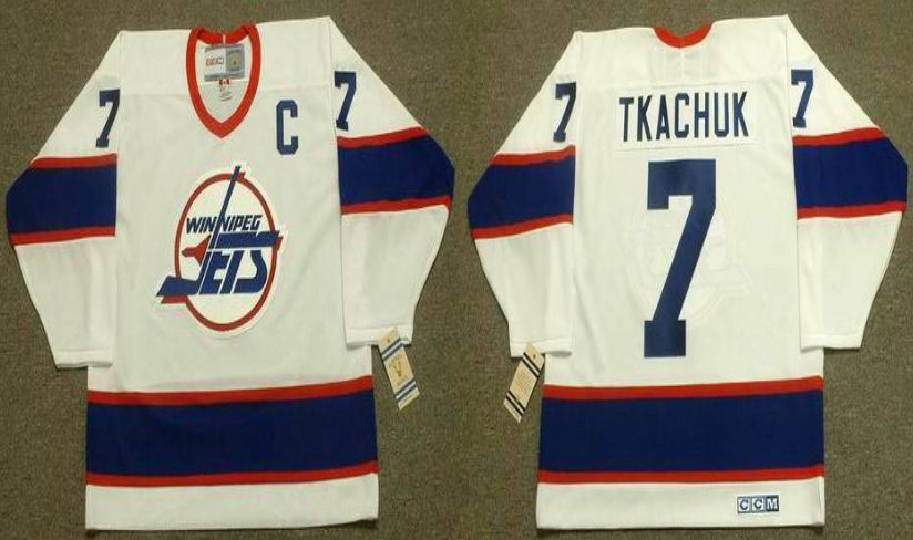 2019 Men Winnipeg Jets 7 Tkachuk white CCM NHL jersey