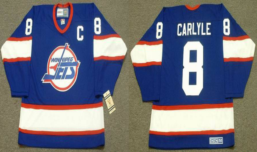 2019 Men Winnipeg Jets 8 Carlyle blue CCM NHL jersey