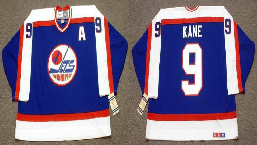 2019 Men Winnipeg Jets 9 Kane blue CCM NHL jersey