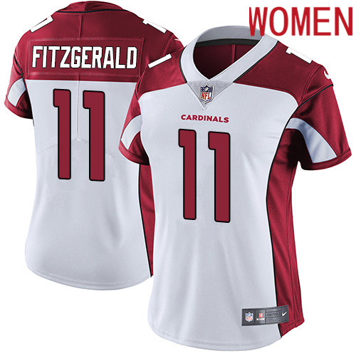 2019 Women Arizona Cardinals 11 Fitzgerald white Nike Vapor Untouchable Limited NFL Jersey
