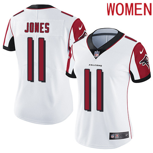 2019 Women Atlanta Falcons 11 Jones white Nike Vapor Untouchable Limited NFL Jersey