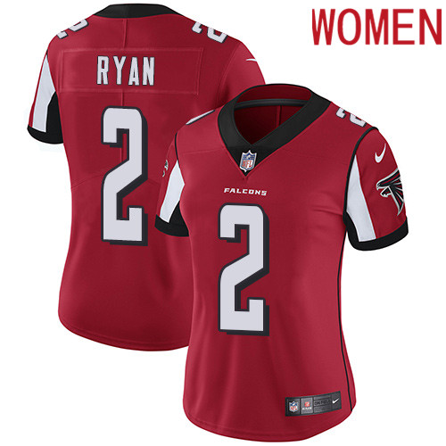 2019 Women Atlanta Falcons 2 Ryan red Nike Vapor Untouchable Limited NFL Jersey