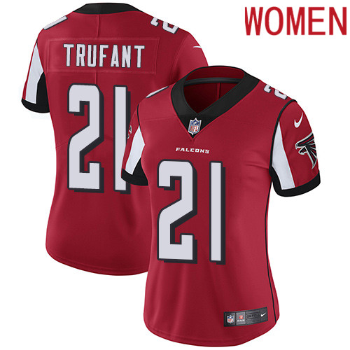 2019 Women Atlanta Falcons 21 Trufant red Nike Vapor Untouchable Limited NFL Jersey