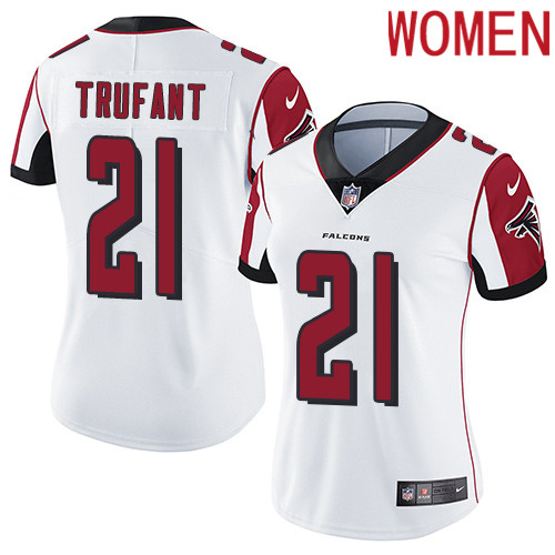 2019 Women Atlanta Falcons 21 Trufant white Nike Vapor Untouchable Limited NFL Jersey
