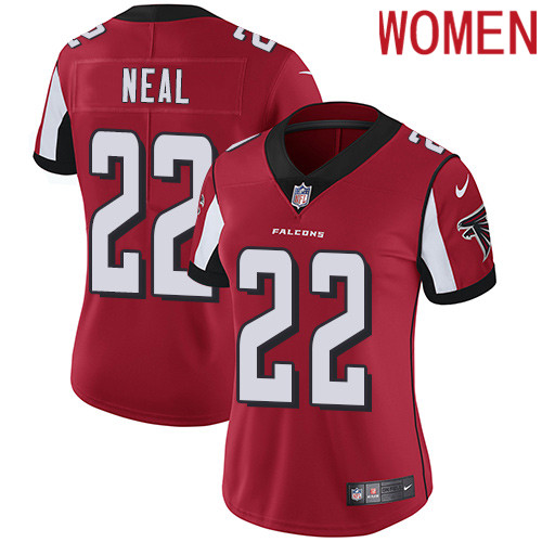 2019 Women Atlanta Falcons 22 Neal red Nike Vapor Untouchable Limited NFL Jersey