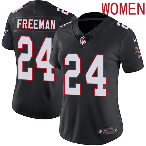 2019 Women Atlanta Falcons 24 Freeman black Nike Vapor Untouchable Limited NFL Jersey