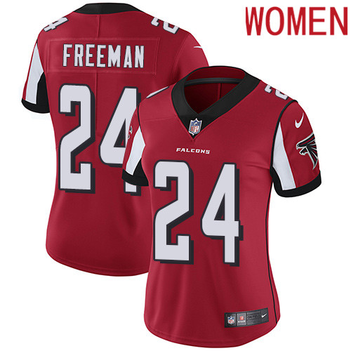 2019 Women Atlanta Falcons 24 Freeman red Nike Vapor Untouchable Limited NFL Jersey
